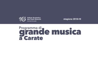 Grande musica 2018-19/ Incontri con grandi opere della storia della musica