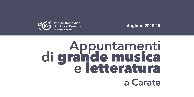 Cose Di Casa Carate appuntamenti di grande musica e letteratura a carate/ 2018