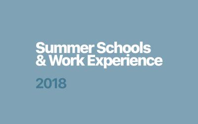 DCG Summer Schools & Work Experience / 2018