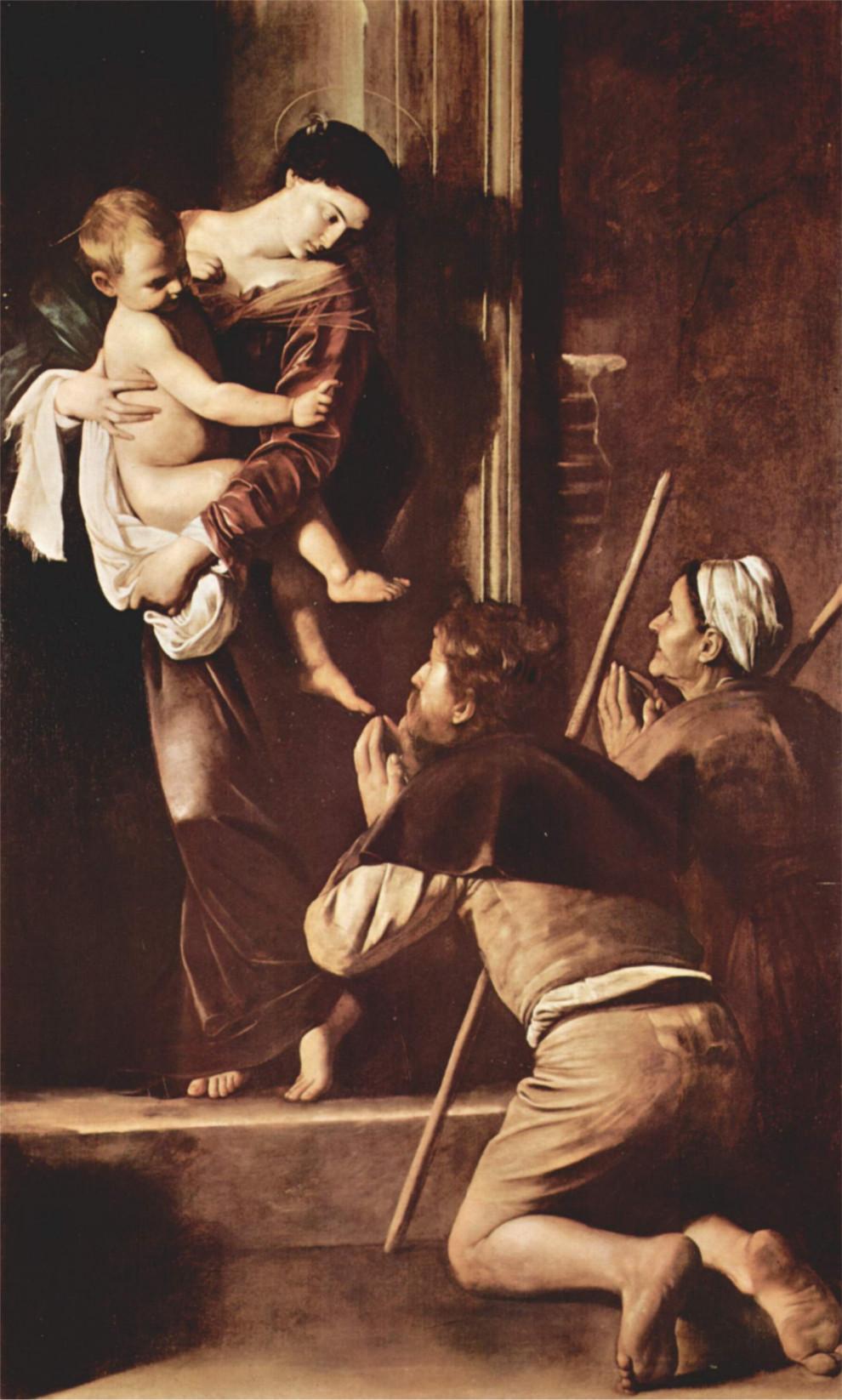 Madonna-dei-Pellegrini-Caravaggio-analisi