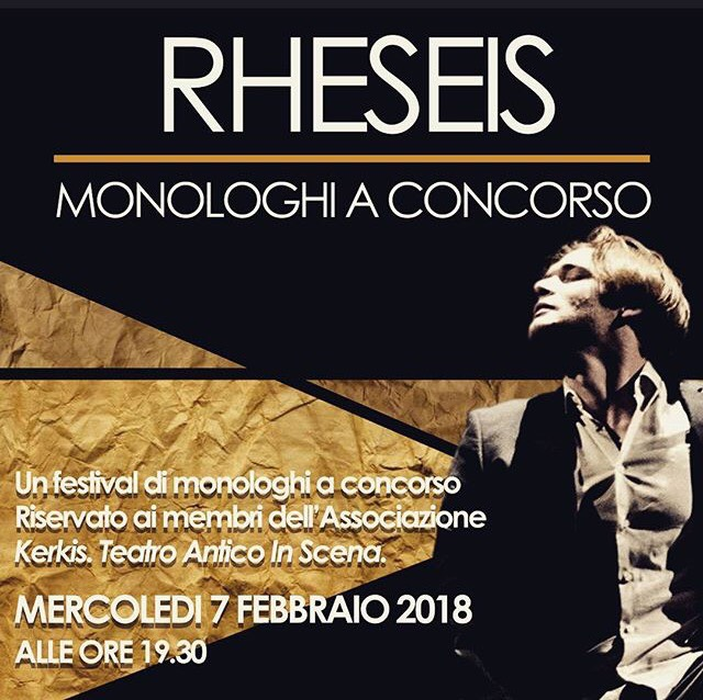 RHESEIS / monologhi a concorso
