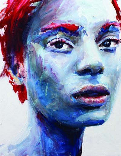 blue Love, 80x80 cm