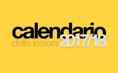 CALENDARIO 2017/18 / in vigore da lunedì 25 settembre 2017