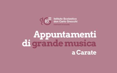 A margine del concerto di Filippo Gorini a Carate dell'8 febbraio 2018