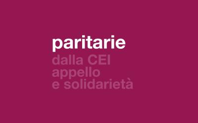 paritarie/ dalla CEI appello e solidarietà